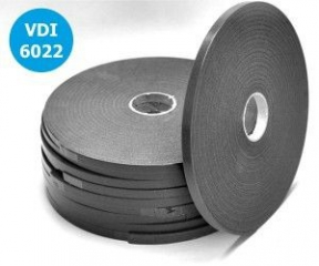PE páska bez krycí fólie 9x3 šedá/20m
